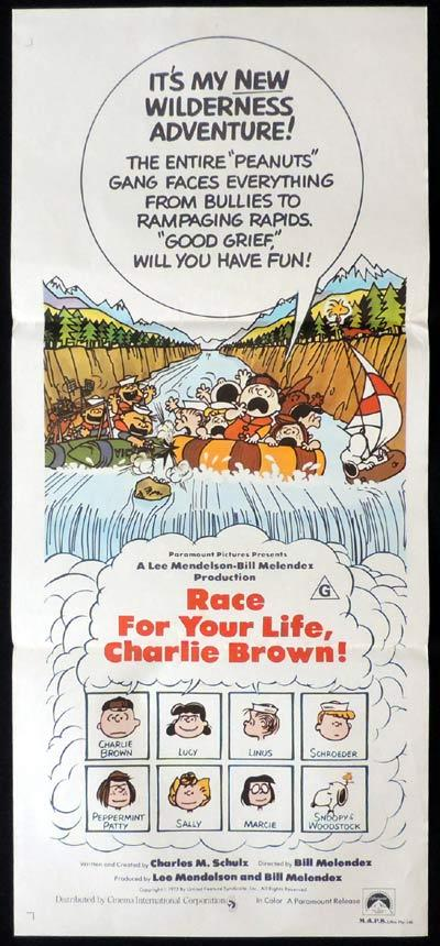 RACE FOR YOUR LIFE CHARLIE BROWN daybill Movie poster Peanuts