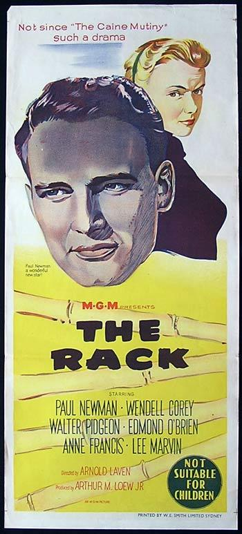 THE RACK  '56 PAUL NEWMAN Movie Poster