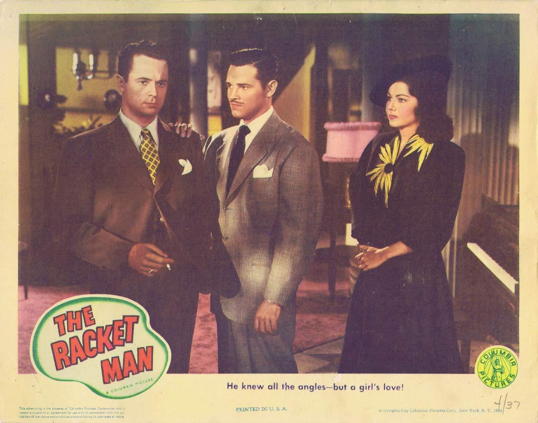 THE RACKET MAN Original Lobby Card Tom Neal Hugh Beaumont Film Noir