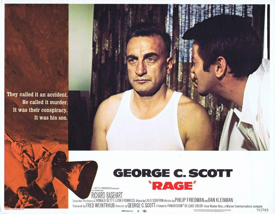 RAGE Lobby Card 6 George C. Scott Martin Sheen Richard Basehart
