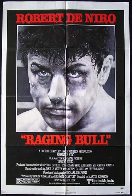 RAGING BULL Original US One sheet Movie poster Robert DeNiro Martin Scorsese