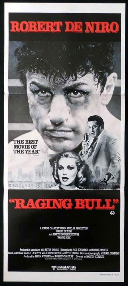 RAGING BULL Original Daybill Movie Poster Robert De Niro Cathy Moriarty
