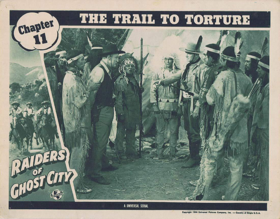 RAIDERS OF GHOST CITY Original Lobby Card Universal Serial Dennis Moore Chapt 11