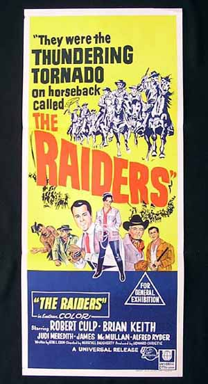 THE RAIDERS-Robert Culp-original HAND LITHO poster