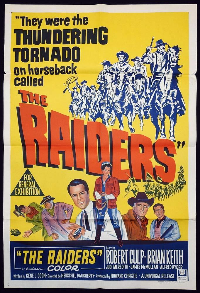 THE RAIDERS Original One sheet Movie poster Brian Keith Robert Culp
