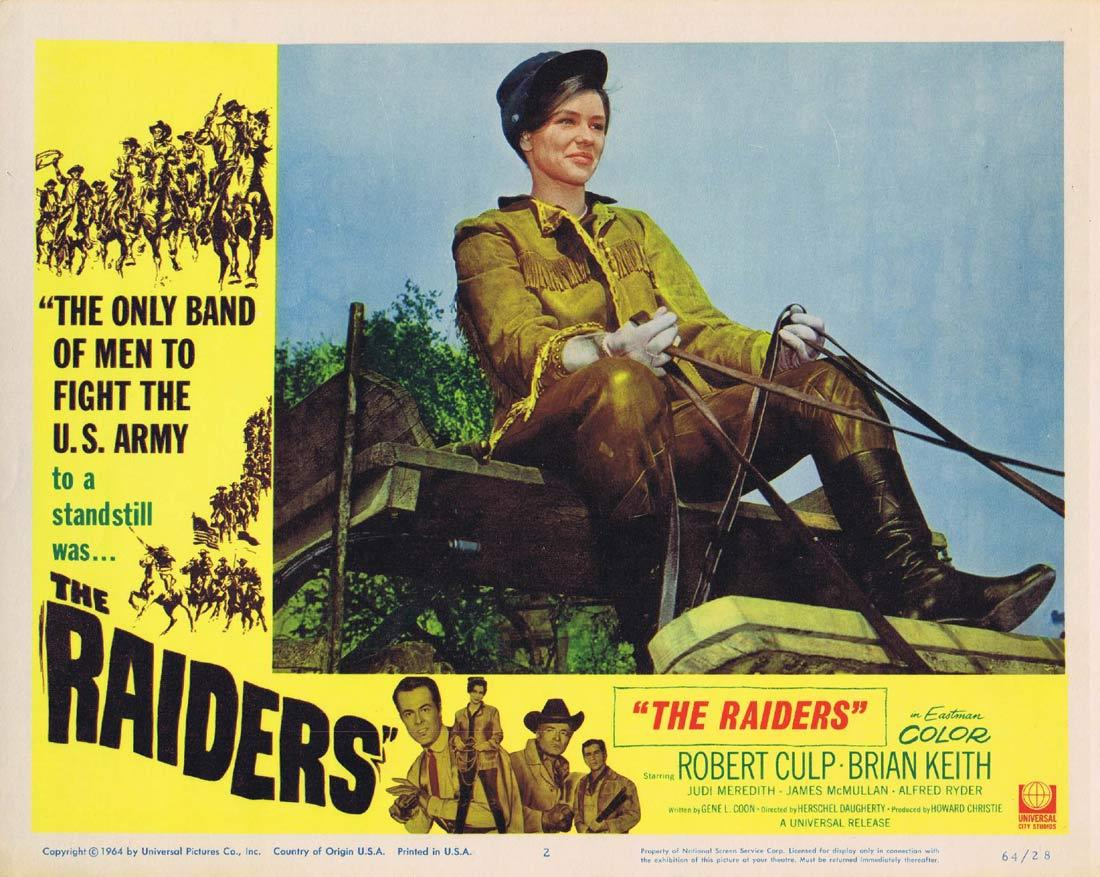 THE RAIDERS Lobby Card 2 Brian Keith Robert Culp Judi Meredith