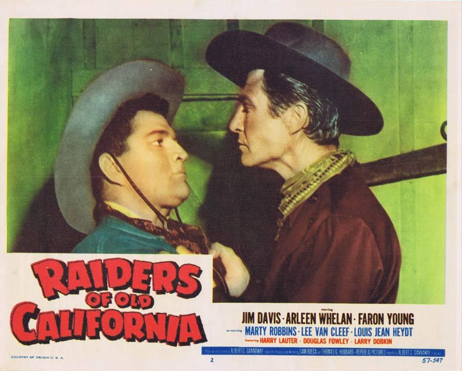 RAIDERS OF OLD CALIFORNIA Lobby Card 3 Jim Davis Faron Young