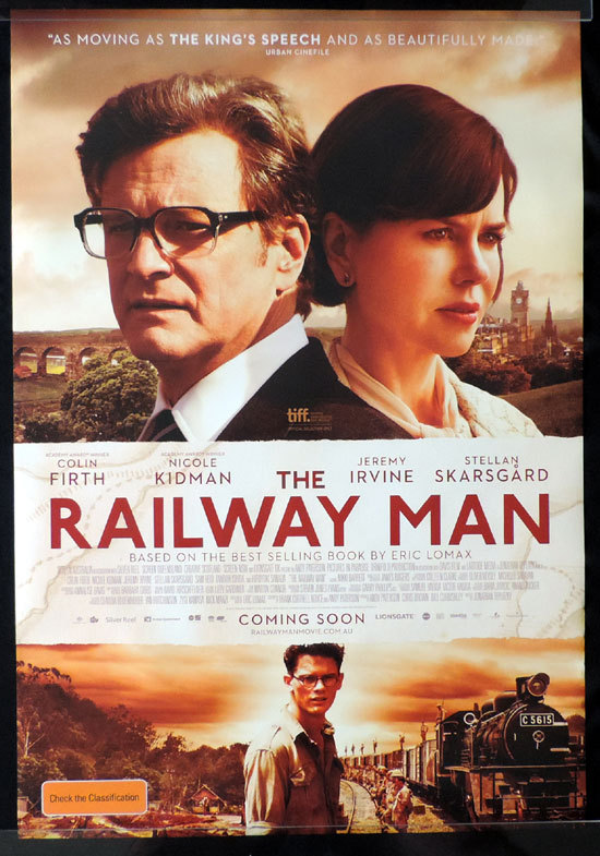 THE RAILWAY MAN Movie poster Nicole Kidman Colin Firth Australian Cinema One sheet