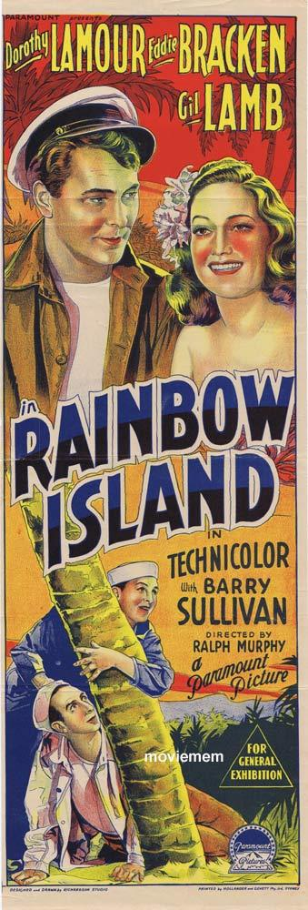RAINBOW ISLAND Original Daybill Movie poster Dorothy Lamour