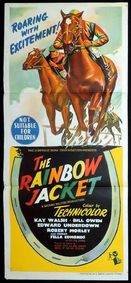 THE RAINBOW JACKET Original Daybill Movie Poster British Horseracing