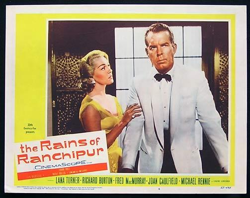 RAINS OF RANCHIPUR Lobby Card 4 Lana Turner Fred MacMurray