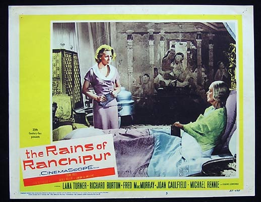 RAINS OF RANCHIPUR Lobby Card 5 Lana Turner Richard Burton