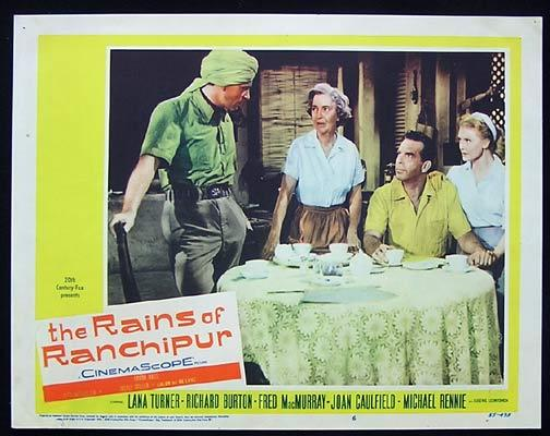 RAINS OF RANCHIPUR Lobby Card 6 Lana Turner Richard Burton