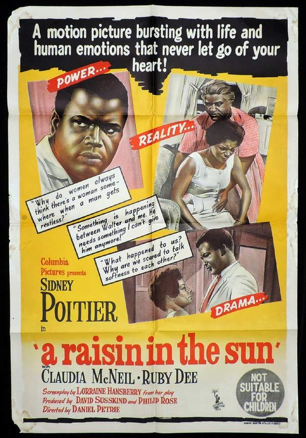 A RASIN IN THE SUN One Sheet Movie Poster Paul Douglas Grace Kelly