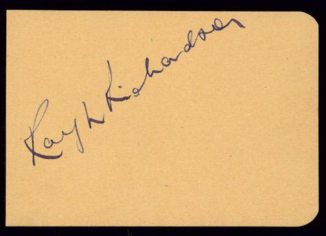 RALPH RICHARDSON Autographed Album Page