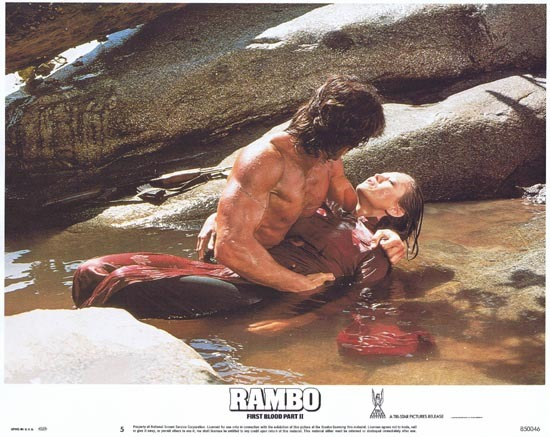 RAMBO FIRST BLOOD II US Lobby card 5 Sylvester Stallone