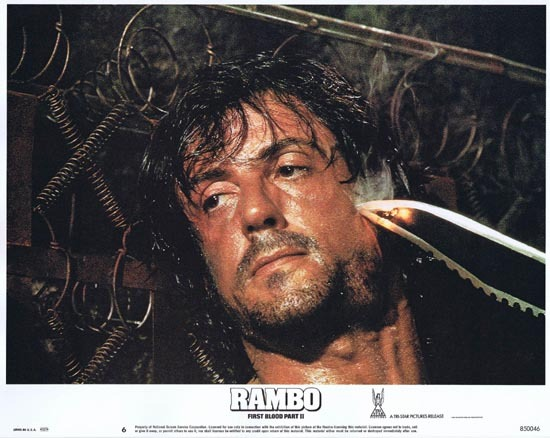RAMBO FIRST BLOOD II US Lobby card 6 Sylvester Stallone