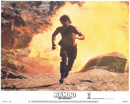 RAMBO FIRST BLOOD II US Lobby card 8 Sylvester Stallone