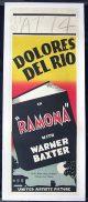 RAMONA 1928 Delores Del Rio LONG DAYBILL movie poster