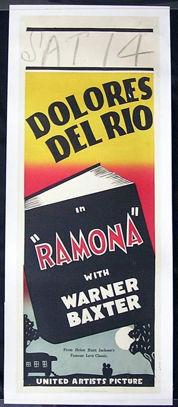 RAMONA 1928 Delores Del Rio LONG DAYBILL movie poster