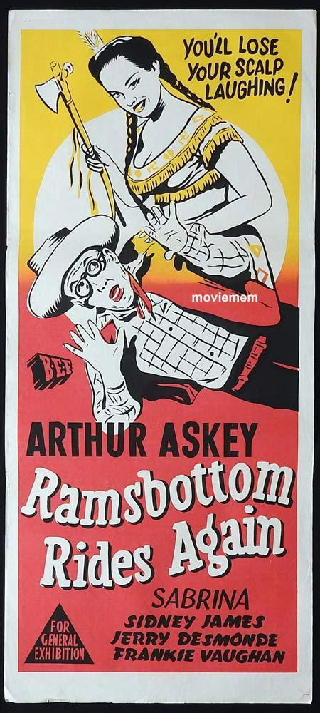 RAMSBOTTOM RIDES AGAIN Original Daybill Movie Poster Arthur Askey Glenn Melvyn