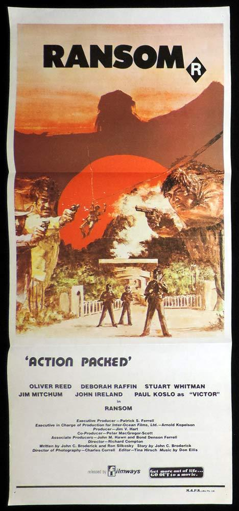 RANSOM aka Assault in Paradise Daybill Movie Poster Oliver Reed