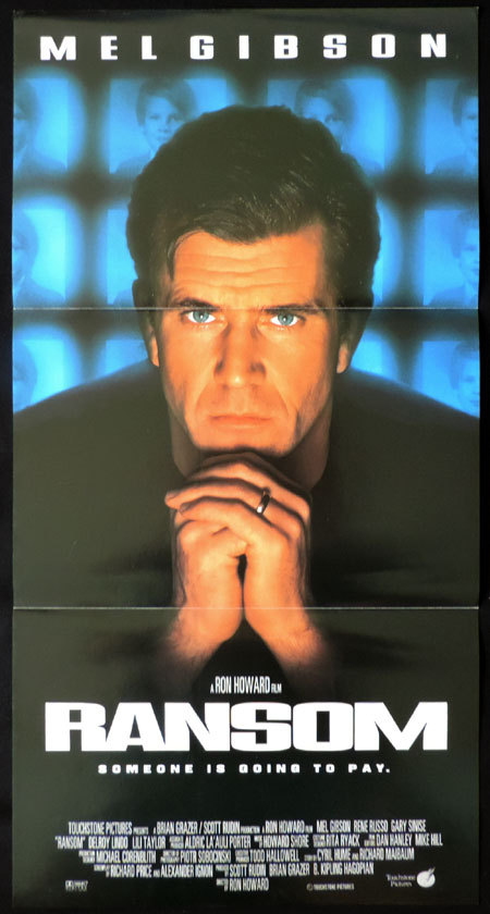 RANSOM Original Australian Daybill Movie poster Mel Gibson Kidnap