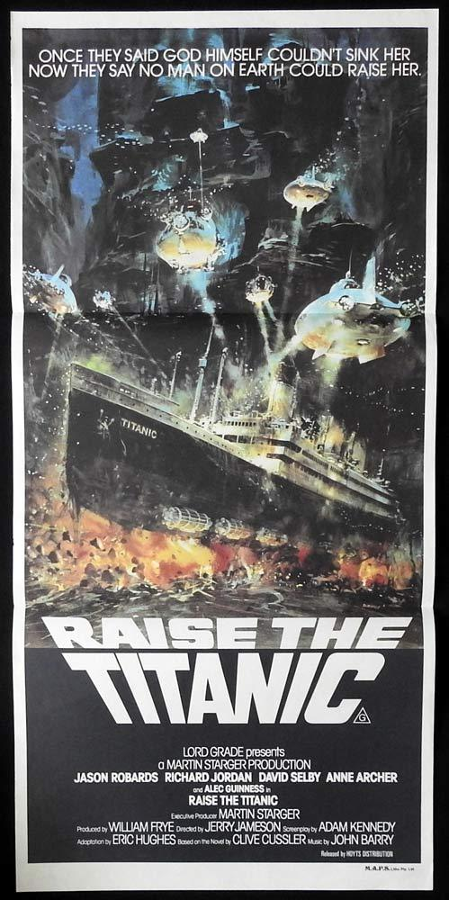 RAISE THE TITANIC Original Daybill Movie Poster Jason Robards Richard Jordan