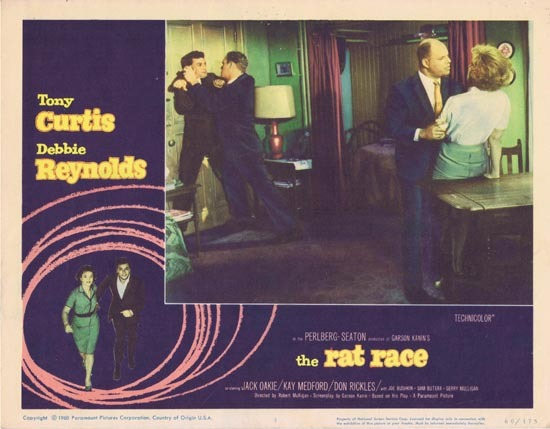 THE RAT RACE Lobby card 3 1960 Tony Curtis Debbie Reynolds