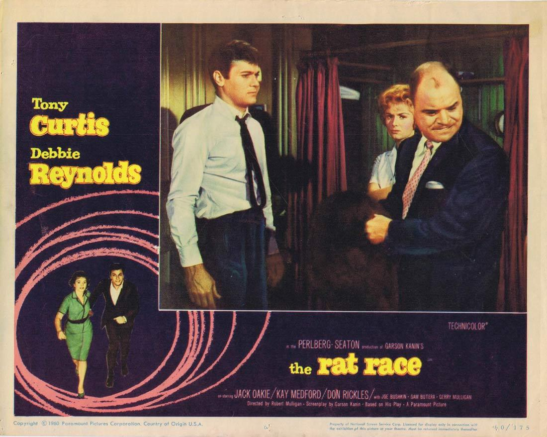 THE RAT RACE Lobby Card 6 Tony Curtis Debbie Reynolds Jack Oakie Don Rickles