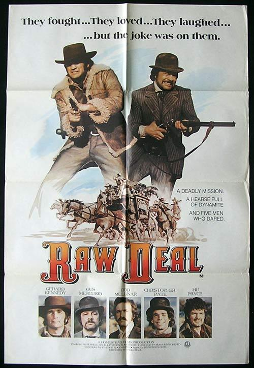 RAW DEAL One Sheet Movie poster 1977 Rare Gerard Kennedy