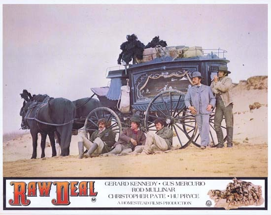 RAW DEAL 1977 Lobby Card 4 Australian Film Gus Mercurio Covered Wagon