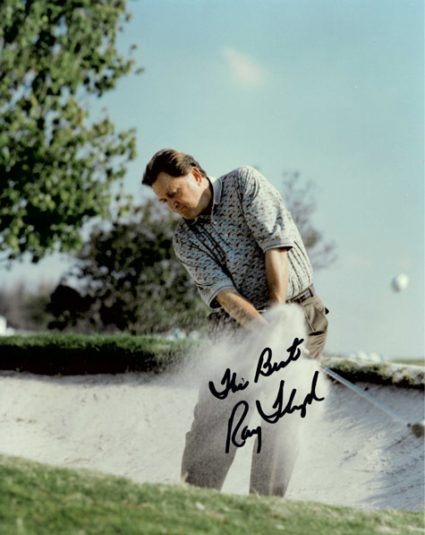 RAYMOND FLOYD Autograph 8 X 10 Photo Golf