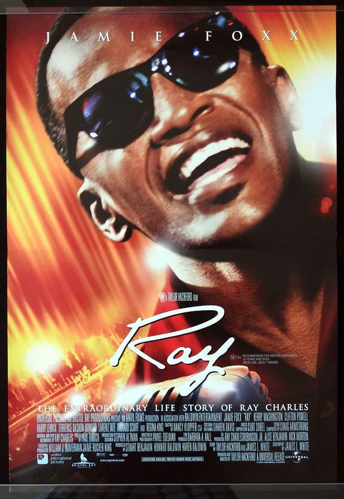 RAY Original daybill Movie Poster RAY CHARLES Jamie Foxx Kerry Washington