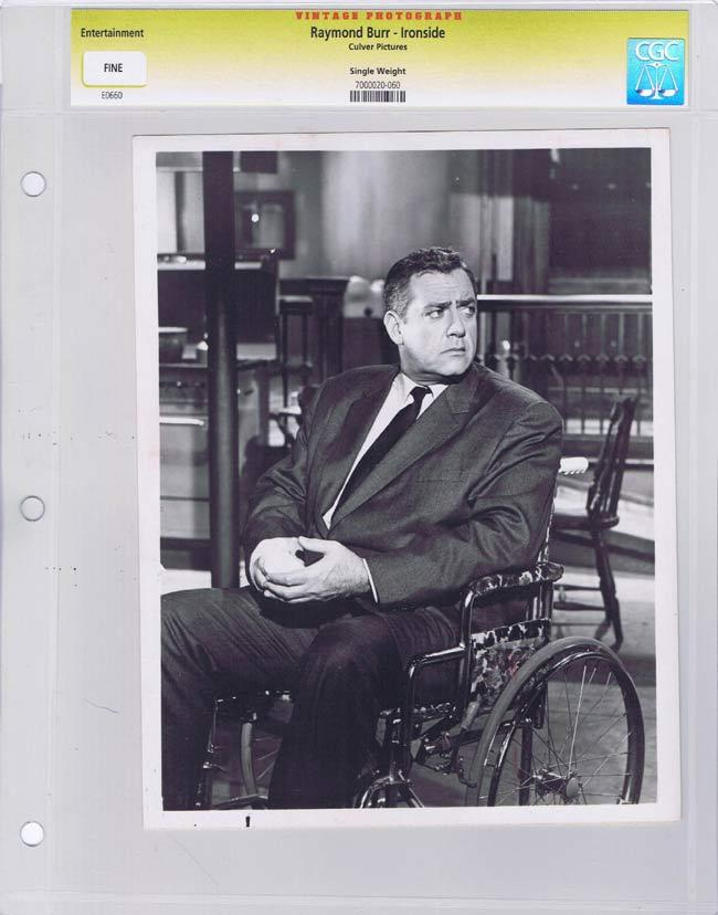 IRONSIDE Vintage Movie Still RAYMOND BURR CGC Graded