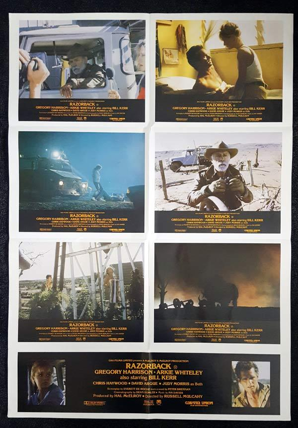 RAZORBACK Original Photo Sheet Movie Poster Russell Mulcahy Arkie Whiteley WILD PIG
