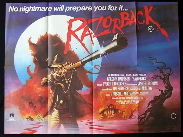 RAZORBACK Movie Poster 1984 Russell Mulcahy WILD PIG British Quad