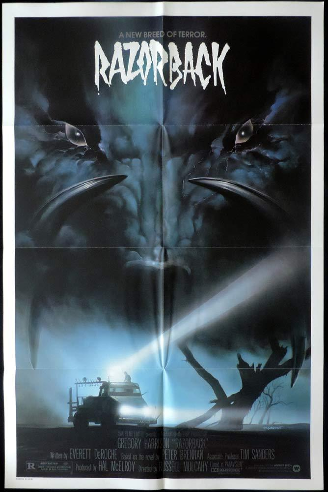 RAZORBACK Original US One sheet Movie Poster Russell Mulcahy Arkie Whiteley WILD PIG US One sheet