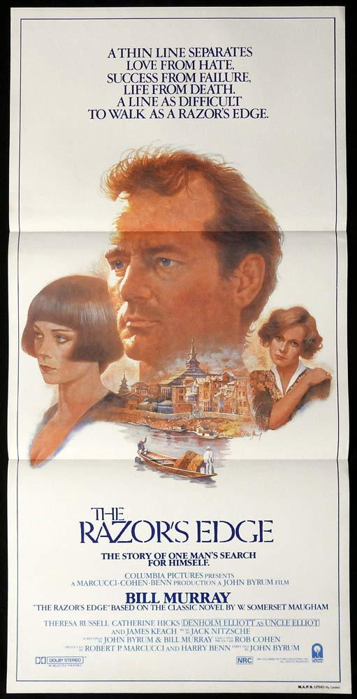 THE RAZORS EDGE Original Daybill Movie poster Bill Murray