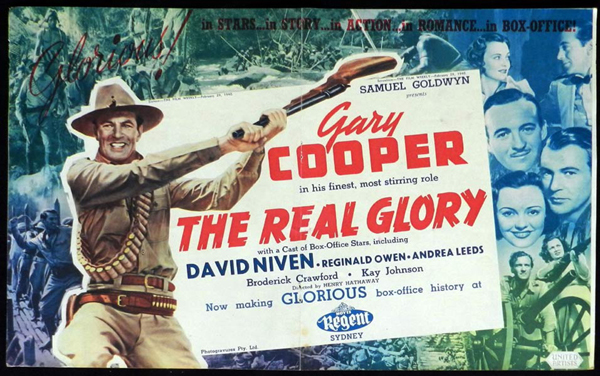 THE REAL GLORY 1940 Gary Cooper VINTAGE Original Movie Trade Ad