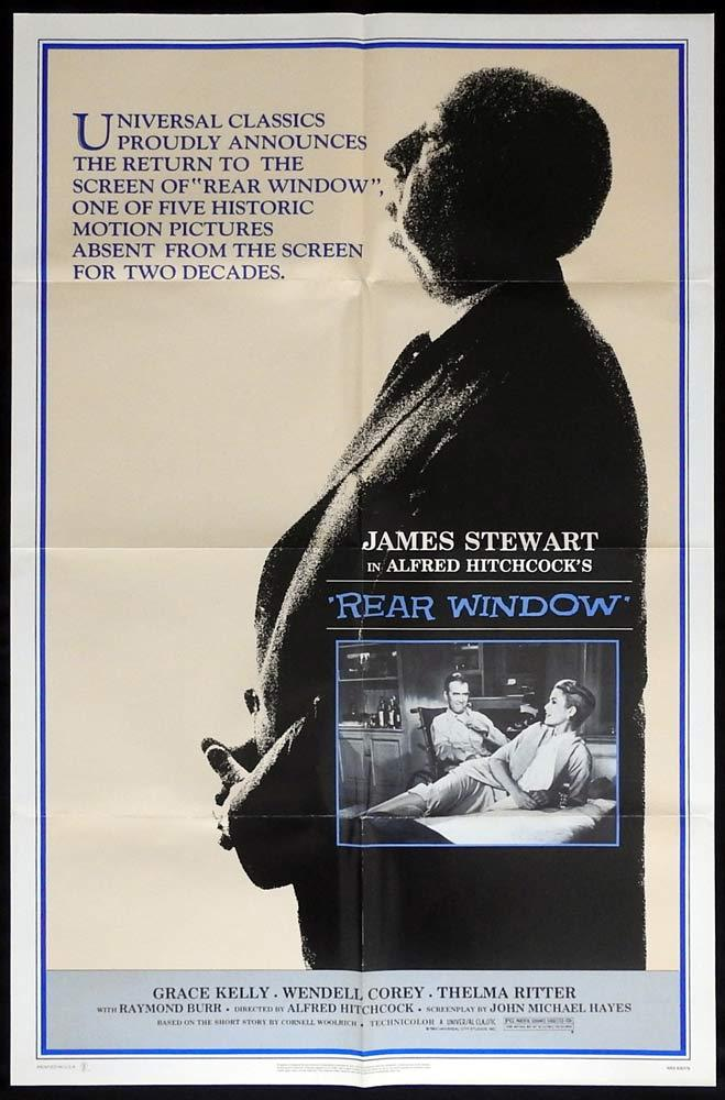 REAR WINDOW Original 1983r  US One sheet Movie poste Alfred Hitchcockr