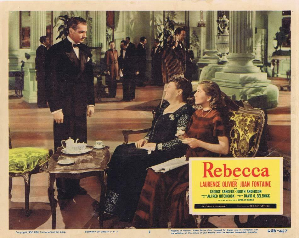REBECCA Lobby card 2 1956r Alfred Hitchcock Olivier Fontaine