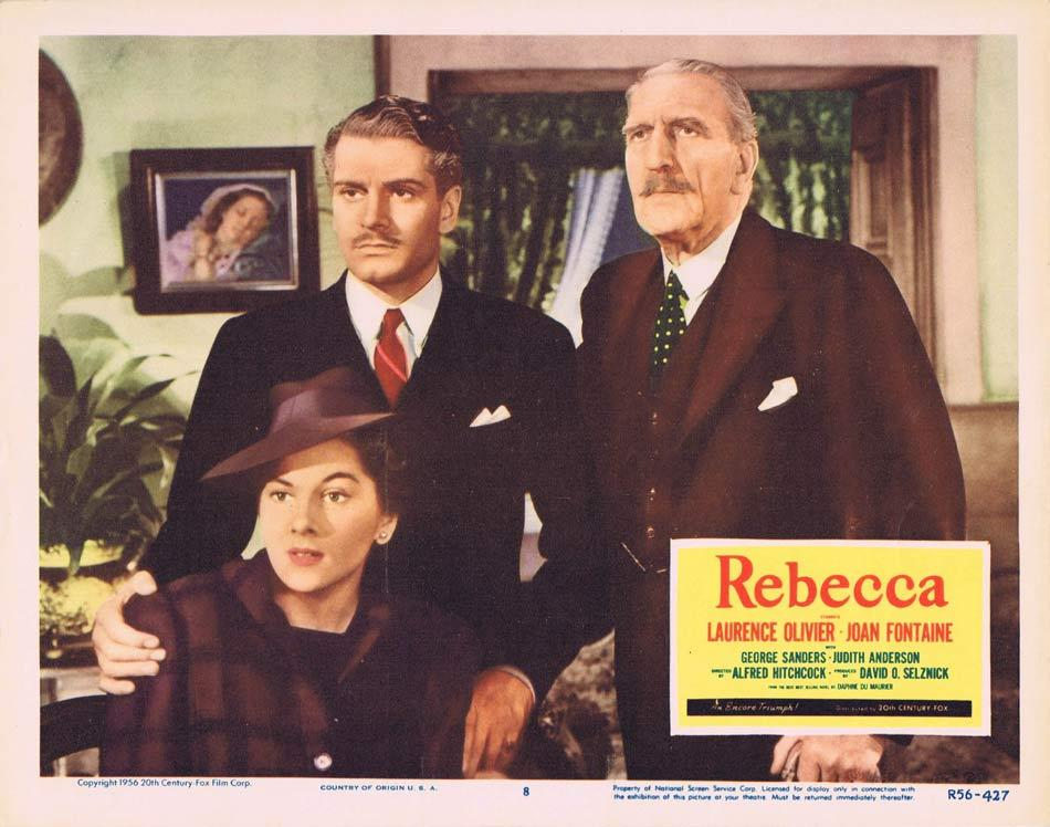 REBECCA Lobby card 8 1956r Alfred Hitchcock Olivier Fontaine