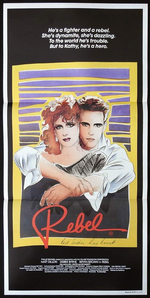 REBEL Original Daybill Movie poster RAY BARRETT Autograph
