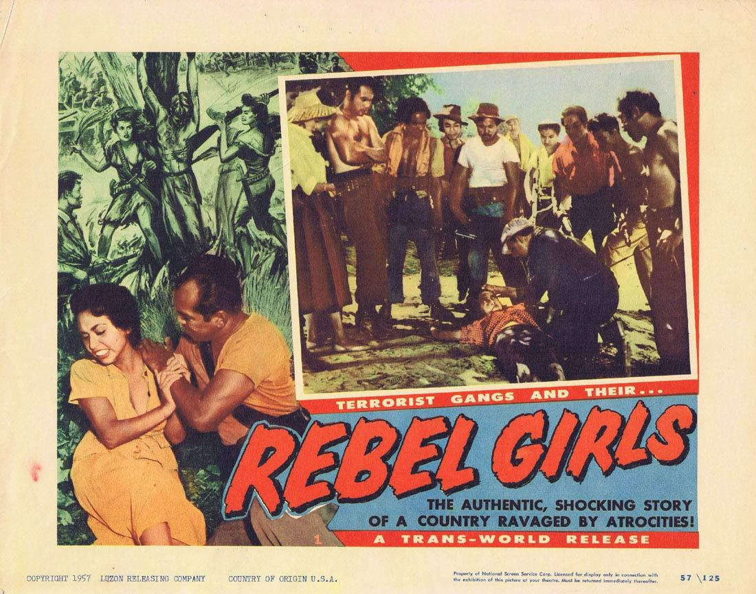 REBEL GIRLS Lobby Card 1 Terrorist Gangs Cuba