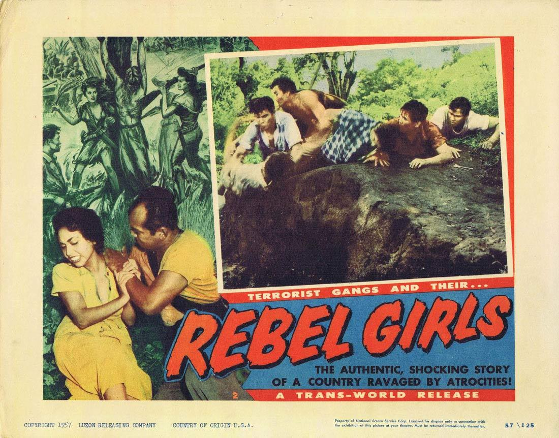 REBEL GIRLS Lobby Card 2 Terrorist Gangs Cuba