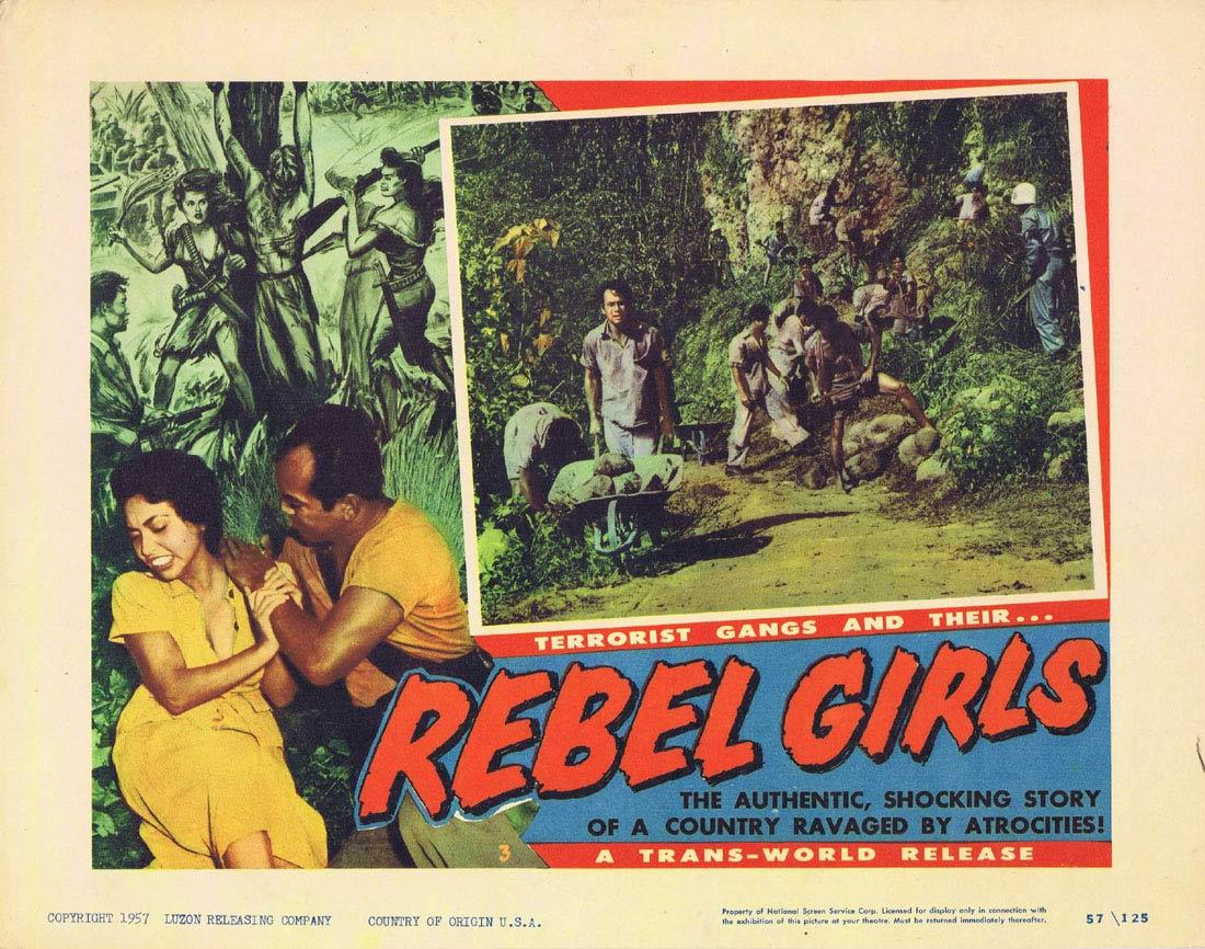 REBEL GIRLS Lobby Card 3 Terrorist Gangs Cuba
