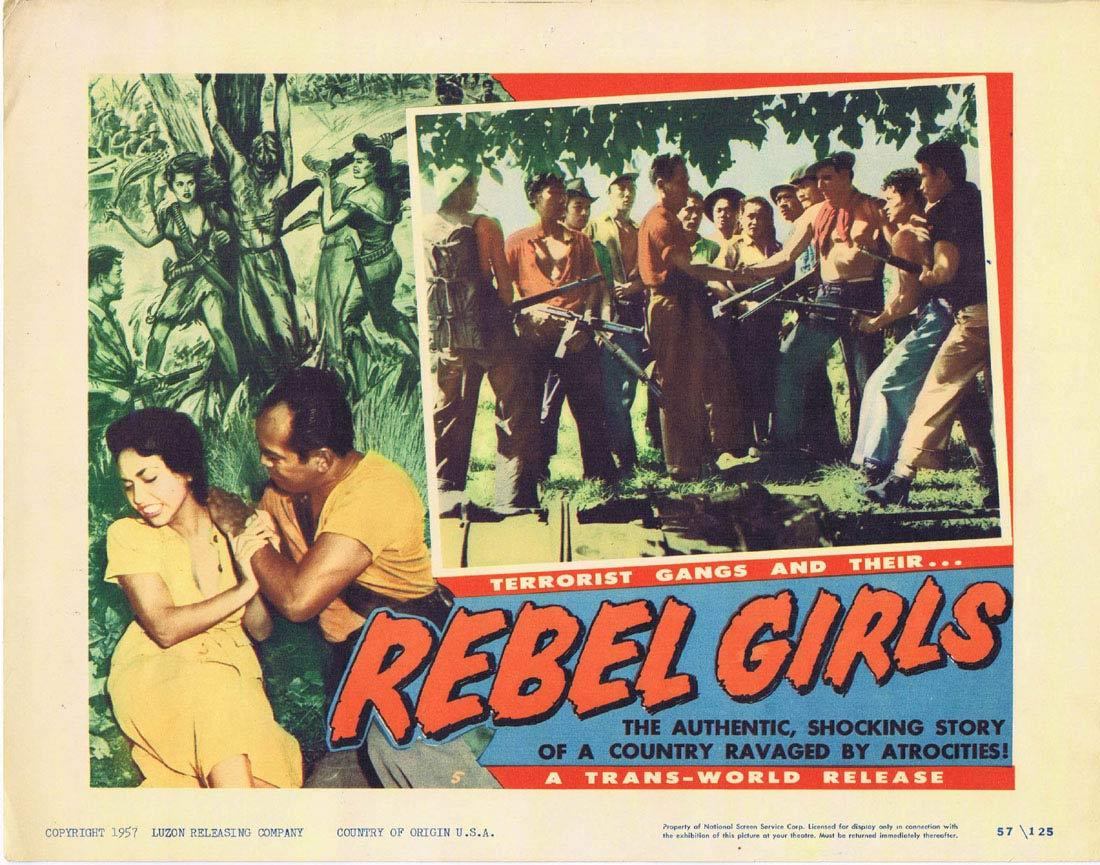 REBEL GIRLS Lobby Card 5 Terrorist Gangs Cuba