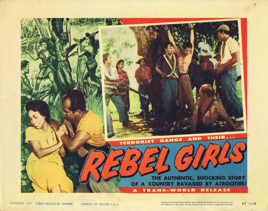 REBEL GIRLS Lobby Card 6 Terrorist Gangs Cuba