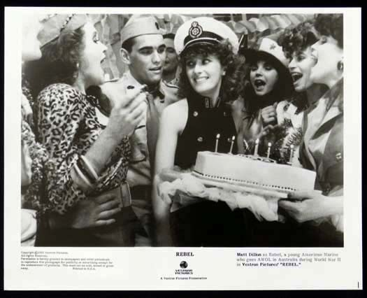 REBEL 1985 Matt Dillon Bryan Brown Debra Byrne Original Movie Still 6